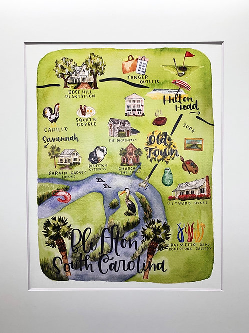 Bluffton, SC print 8x10