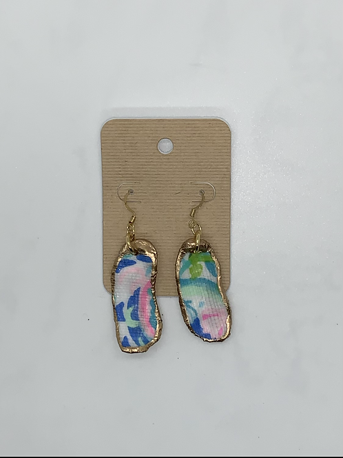 Oyster shell dangle earrings -Lily inspired
