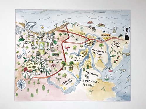 Savannah with Islands print 8x10