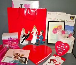 Rakkauspakkaus lahja hääparille