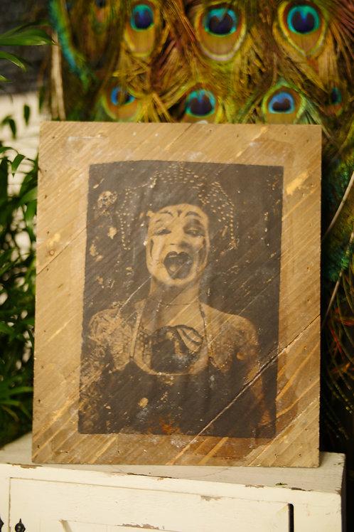Wood Transfer of Circus Freak