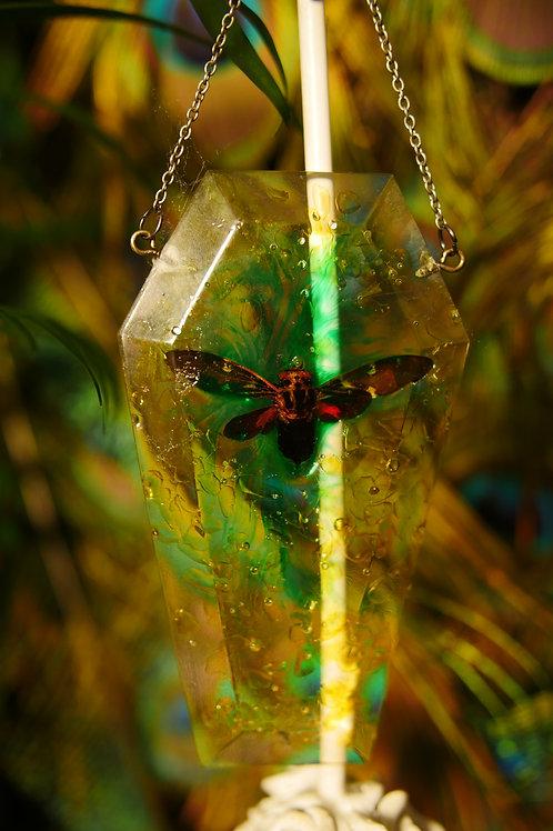 Moth Coffin Wall Hanger/Sun Catcher