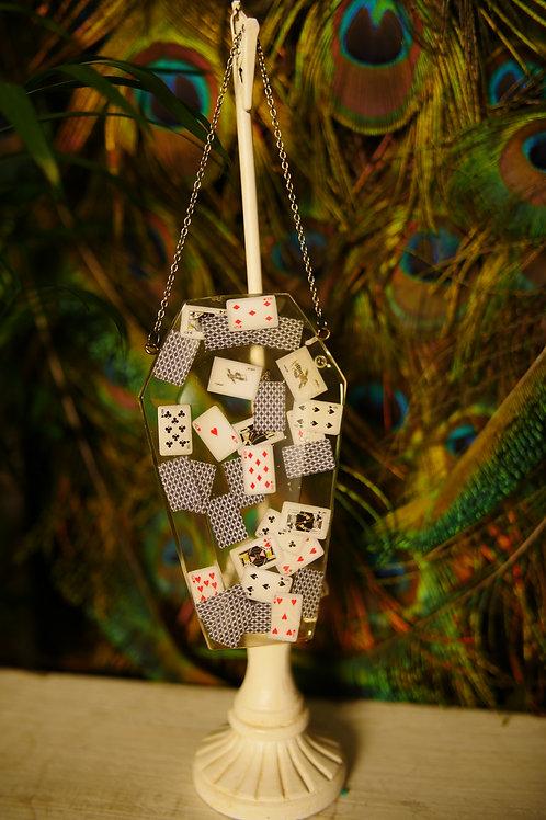 Cards Coffin Wall Hanger/Sun Catcher