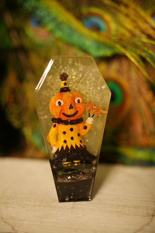 Vintage Halloween Figure in Glow in the dark Coffin