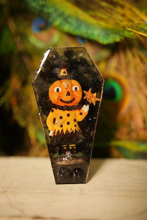 Vintage Halloween Figurine Coffin