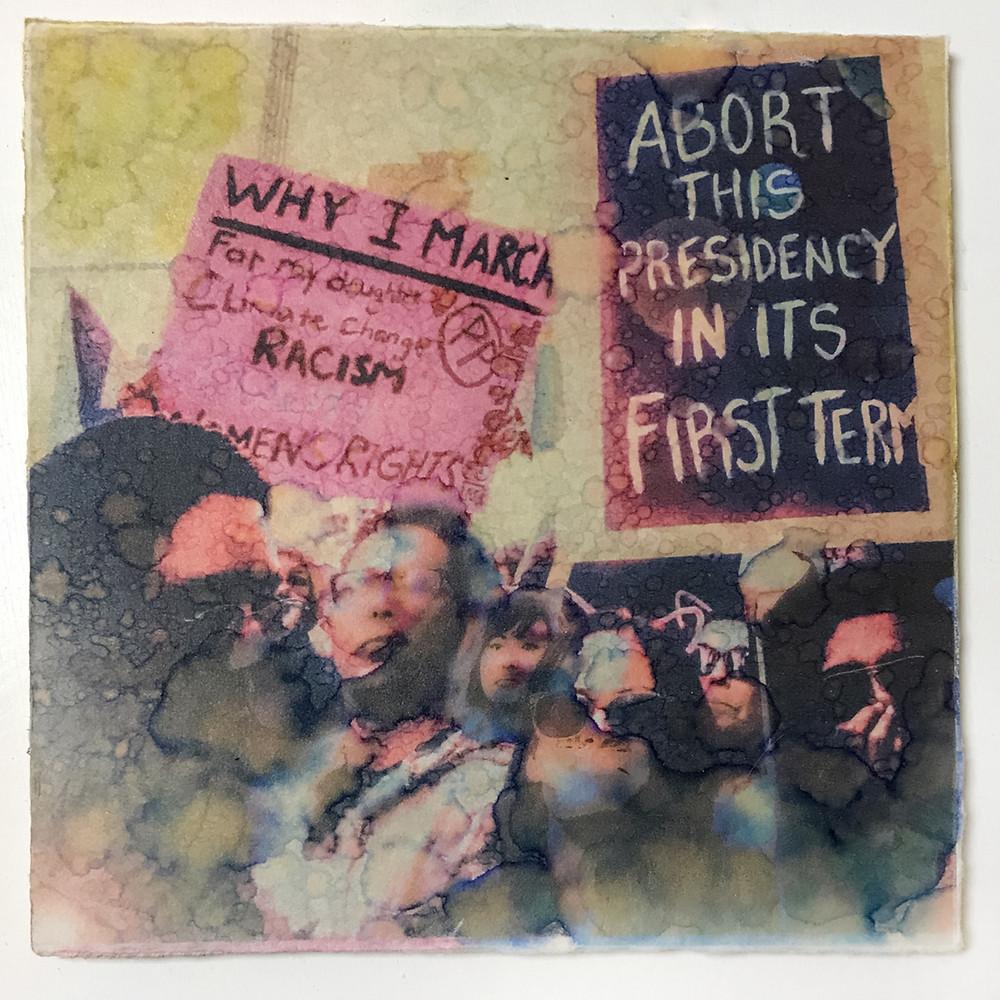 artist Gina M transfer print - Abort