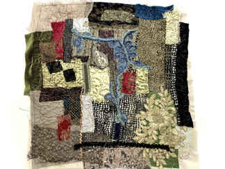 Fabric collage inspired by the masters.