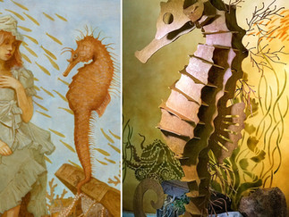 Making of the Seahorse for Girl Underwater