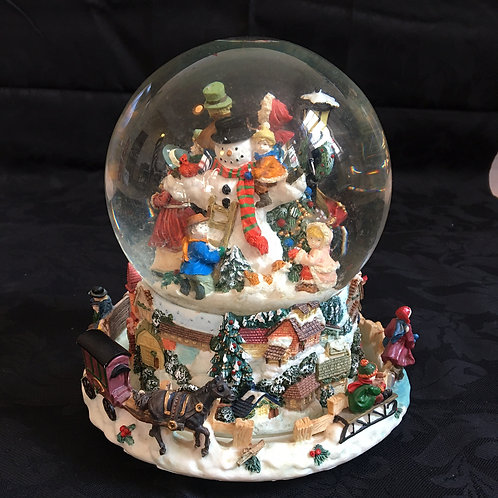 Large Musical Snow Globe