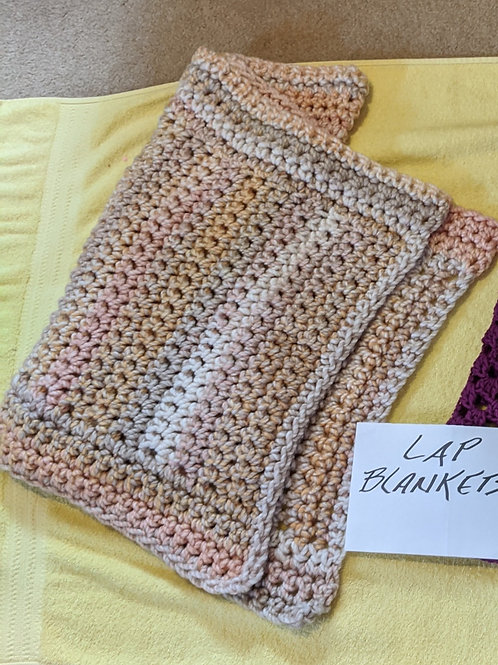 Lap Blanket-Pink, Brown, and Cream