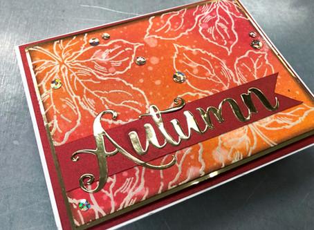 Handmade Autumn Card