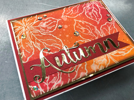 Handmade Autumn Card