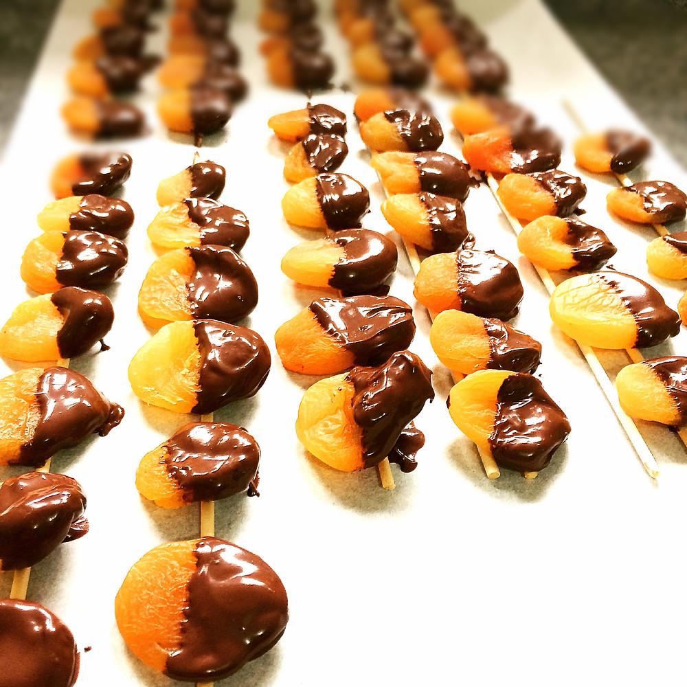 Damascos com chocolate meio amargo, Blog de Comida Abuela Juana