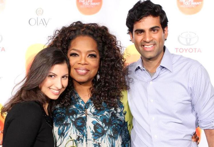 Kavita Shukla with Oprah Winfrey