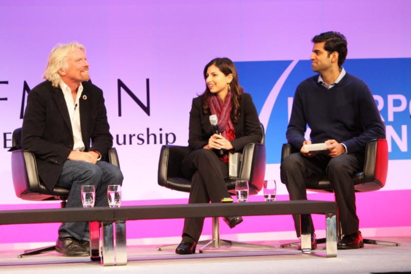 Kavita Shukla & Sir Richard Branson