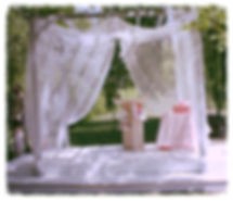 Union et Émotions - Cérémonie Laïque - Materiel et location Pergolas, housse de chaises, noeuds de chaises