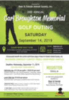 2019 Carl Broughton Golf Outing - Flyer.
