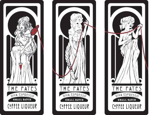 The Fates Coffee Liqueur Labels