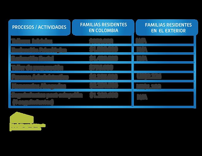 costos proceso de adopcion en colombia.p