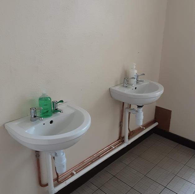 New sinks.