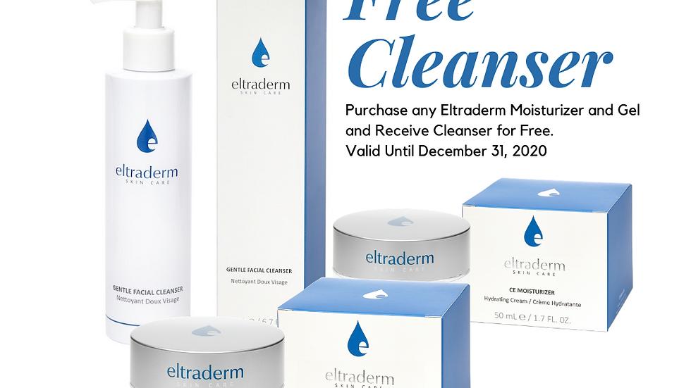 Eltraderm Hyaluron E Cream Advanced Collagen & HA, Free Cleanser