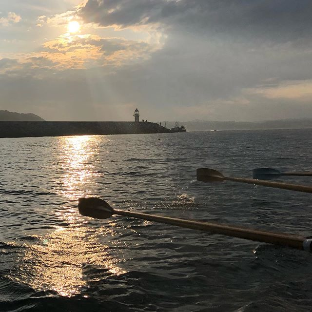 #sunset #rowing #gigrowing #brixham #bre