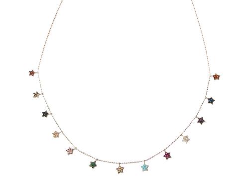 "Collier serti collection ""Star"" en argent 925"