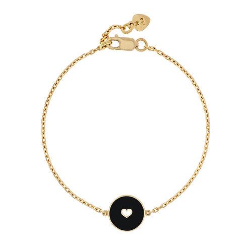 Bracelet émaillé «coeur » réversible