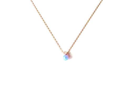 """Collier collection """"Opale"""" en argent 925 plaqué or rose"""