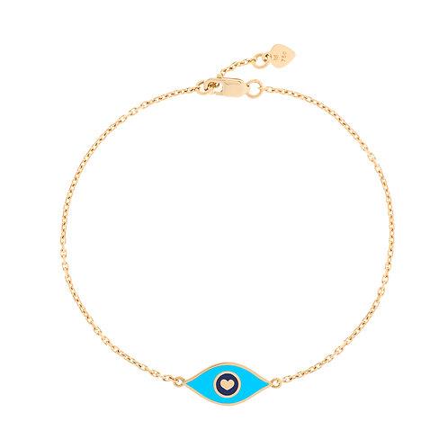 """Bracelet """"oeil"""" turquoise"""
