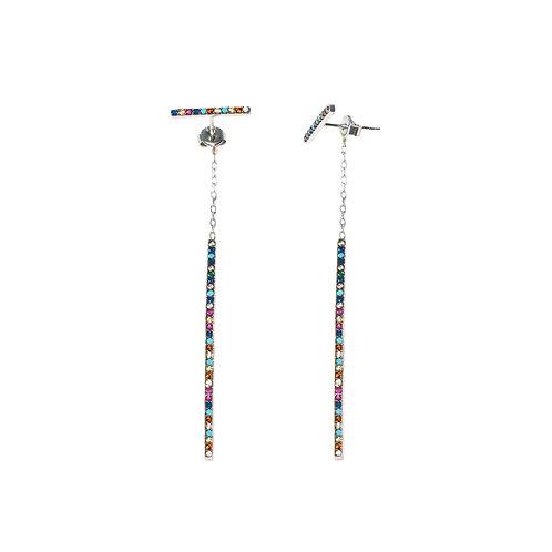 """Boucles d'oreille collection """"Temps"""" argent 925"""