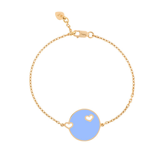 "Bracelet ""Duo coeur"" bleu"