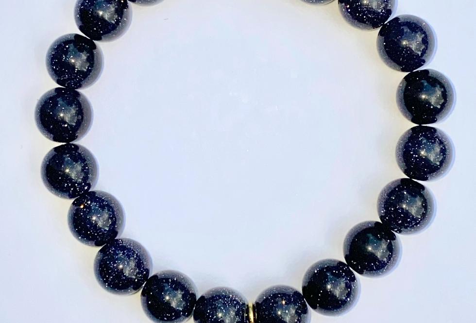 Bracelet Goldstone bleu
