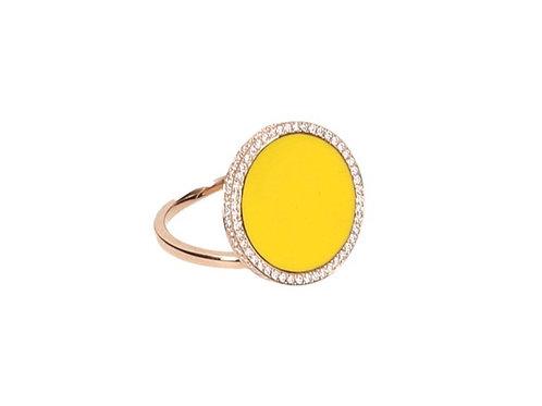 """Bague """"L'intemporelle"""" jaune"""