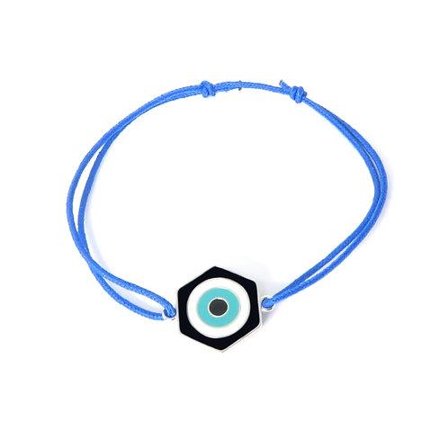 """Bracelet collection """"lucky Eye"""" réversible en argent noir / gris"""