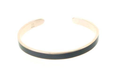 "Bracelet ""Jonc"" émaillé noir"