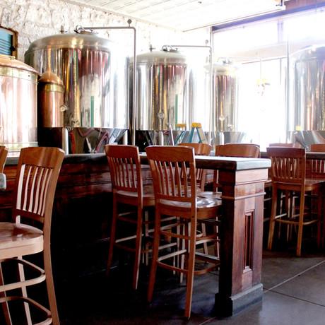 Restaurant - View of brew tanks