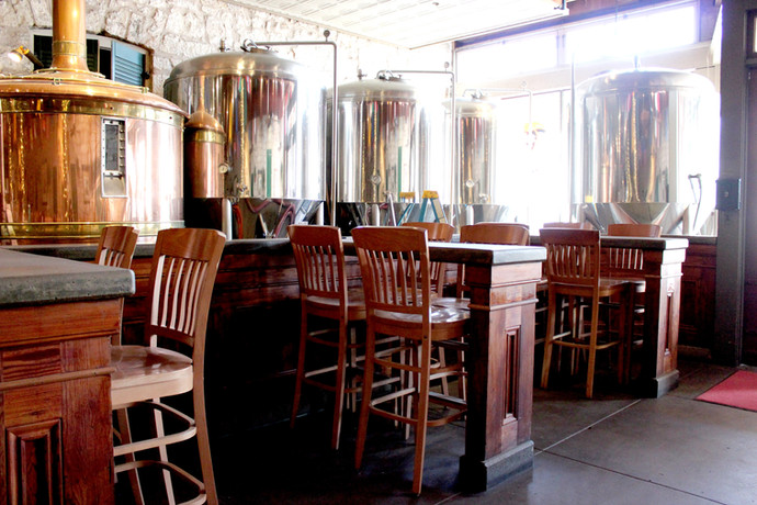 Restaurant - View of brew tanks
