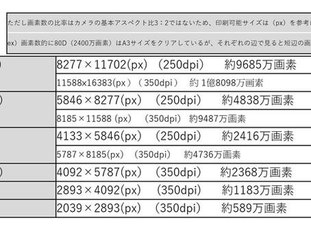 あなたのカメラは解像度は? 画素でわかる印刷可能サイズをご紹介!!