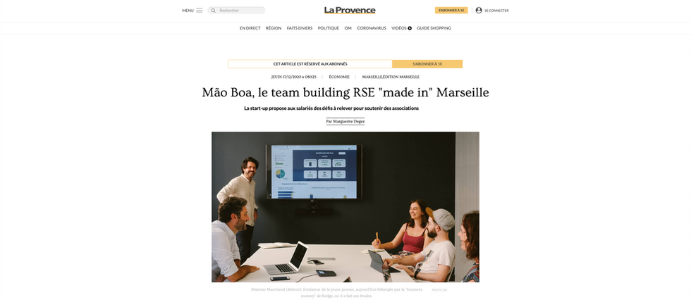 mão boa dans la presse - La Provence