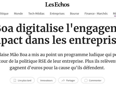 mão boa dans la presse - Les Échos