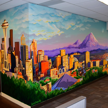 Chicago Title Seattle City interior mural