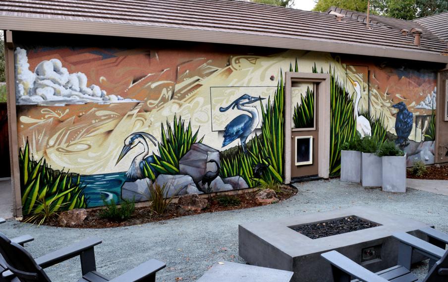 Exterior residential mural san francisco bay area