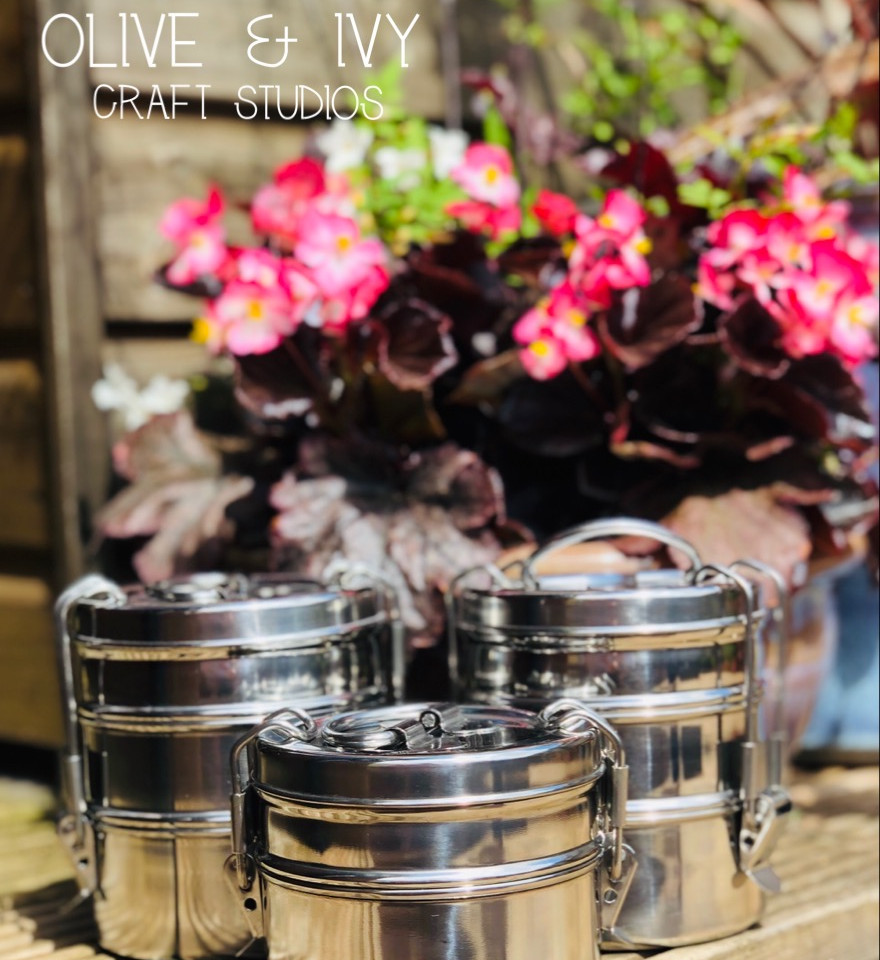 2 and 3 Tier Tiffin Tins