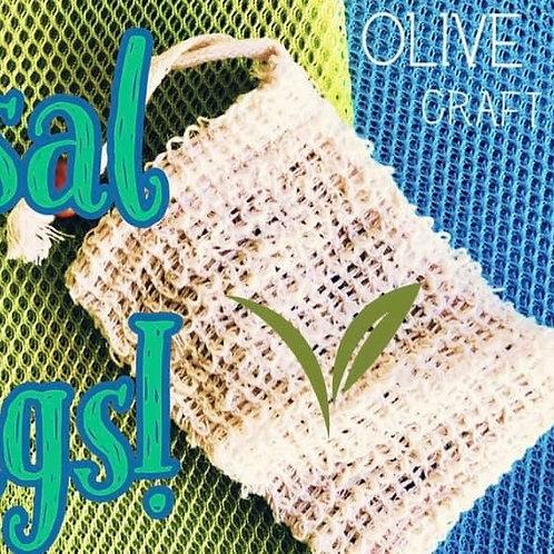Handmade Sisal Soap Saver Bags