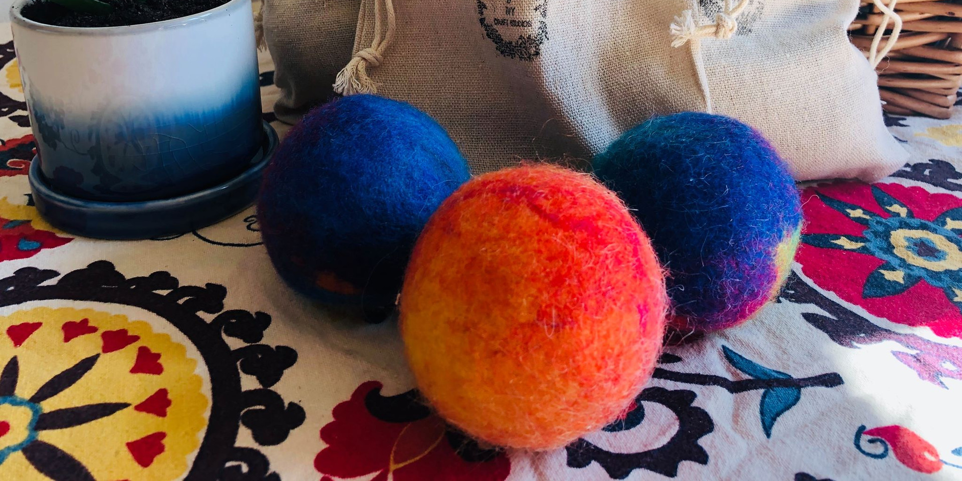 Our natural handmade wool dryer balls