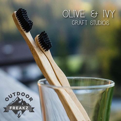 Bamboo & Medium Charcoal Bristle Toothbrush