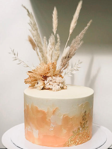 Peach & Gold Wedding Cake:Carly.jpg
