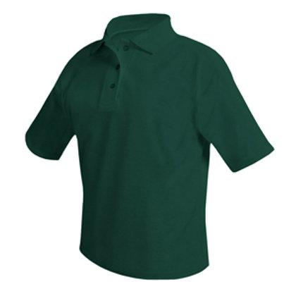 Unisex Short Sleeve Green Polo with Logo