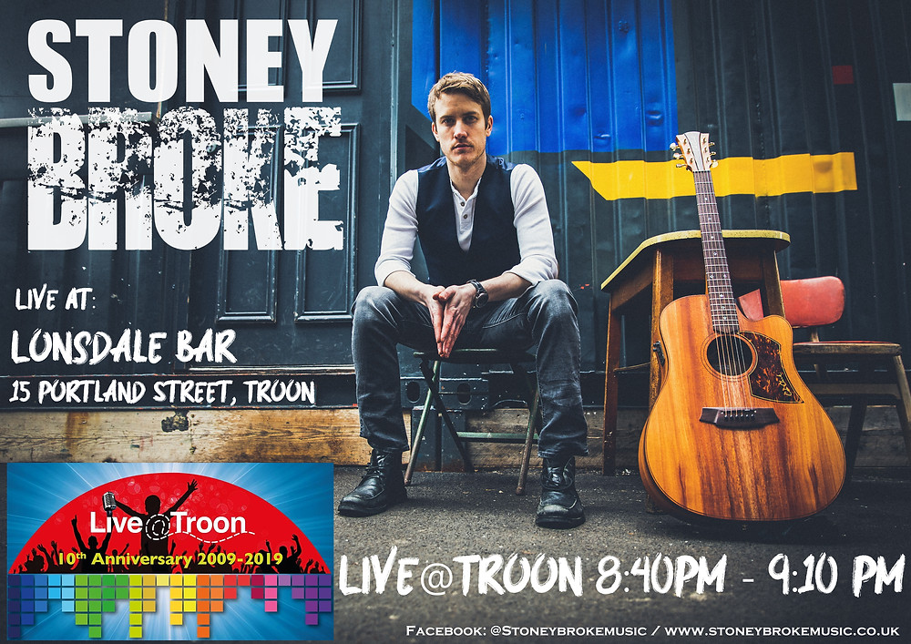 Stoney Broke poster live@troon